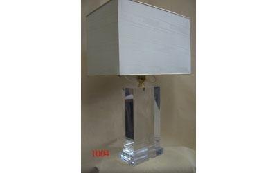 lampada con base plexiglass