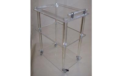 carrello in plexiglass