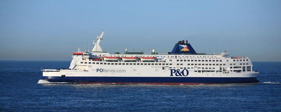 A P&O ferry at sea