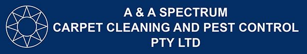 a and a spectrum carpet cleaning and pest control logo