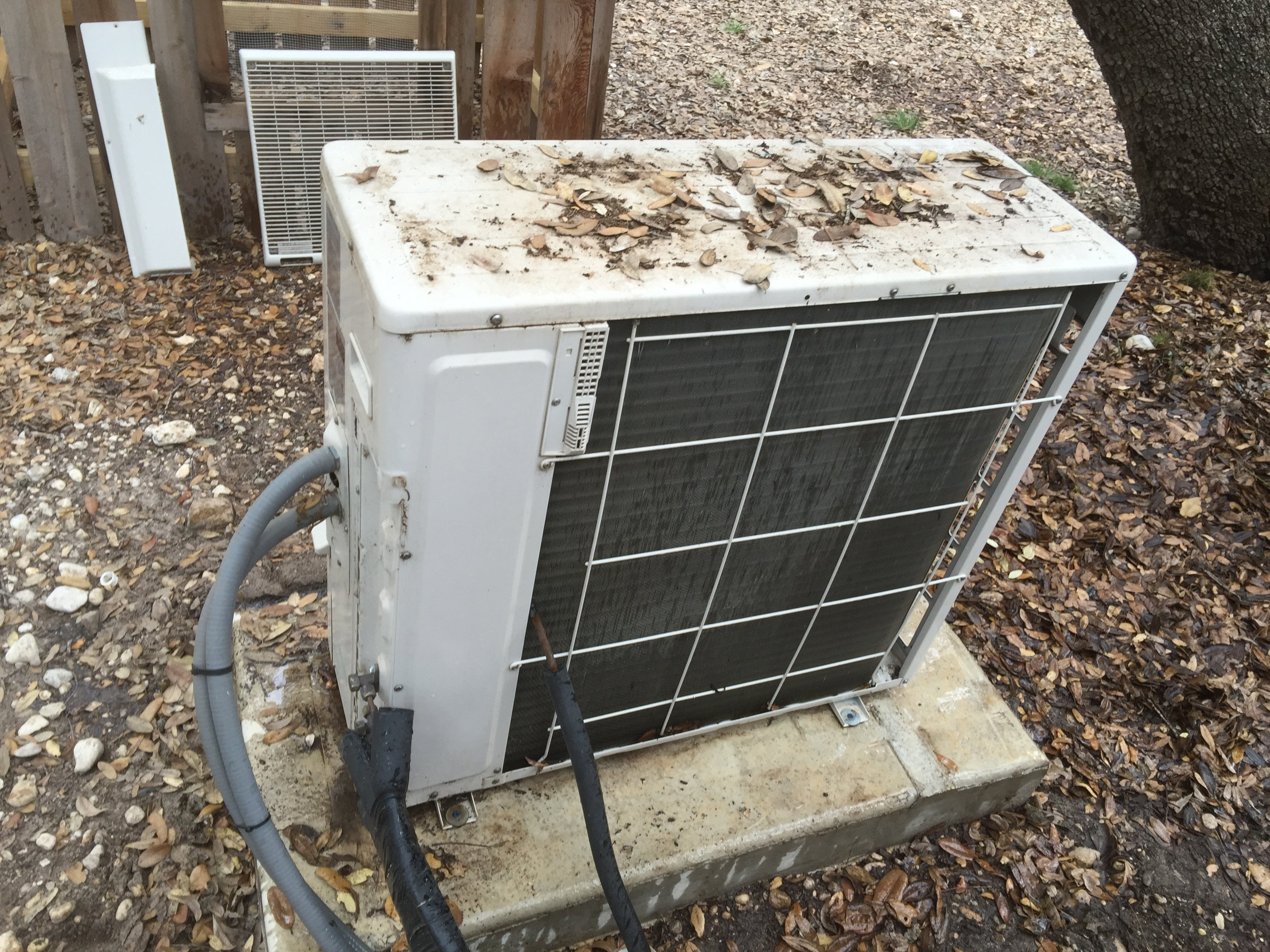 AC Unit Before Maintenance, San Antonio TX