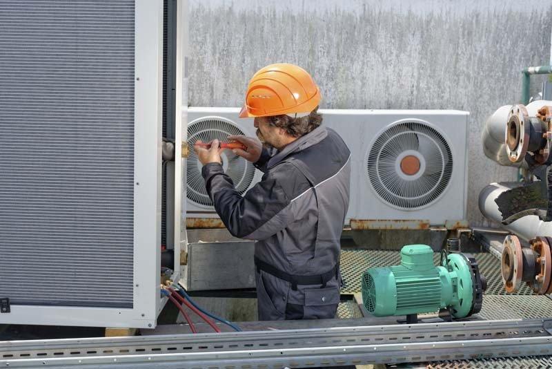 AC Unit Receiving Maintenance, San Antonio TX
