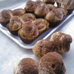 funghetti chantilly di cioccolato