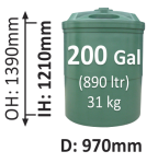 890-Litre-Round-Poly-Water-Tank-QLD