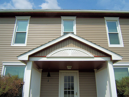 View of the house after siding got repaired by teh contractor in Table Rock, NE