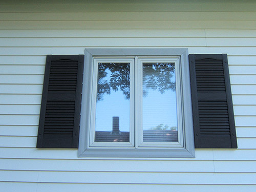 Close view of the durable window installed by contractor in Table Rock, NE