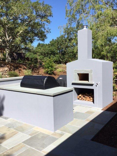 Masonry outdoor kitchen