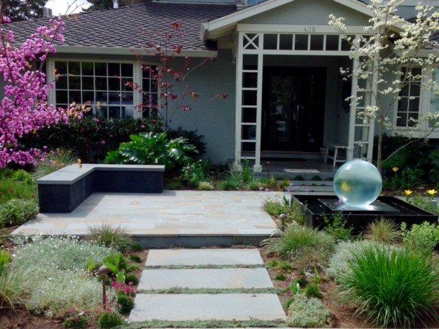 path and masonry patio