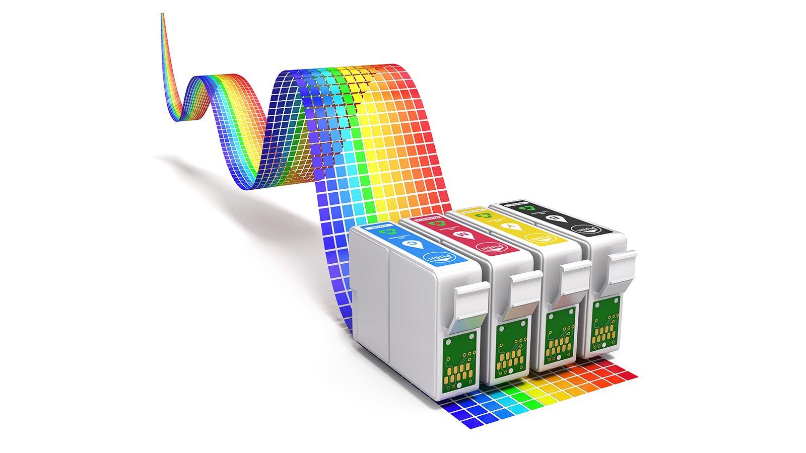 delle cartucce a colori per stampante