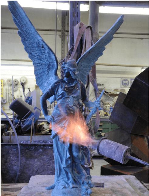 ossidazione forzata del metallo