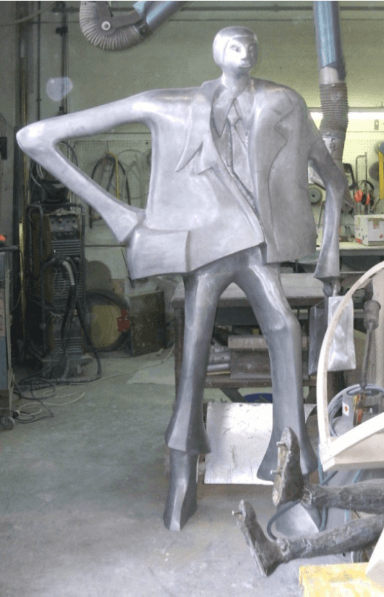 statua in alluminio