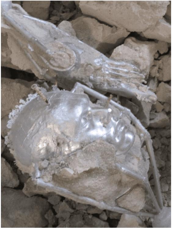 sculture in alluminio verniciato