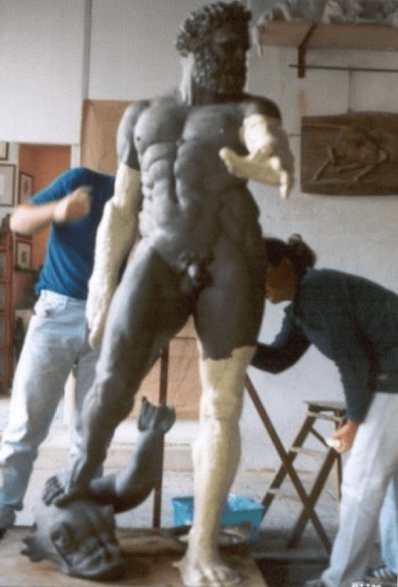 verniciatura del Michelangelo