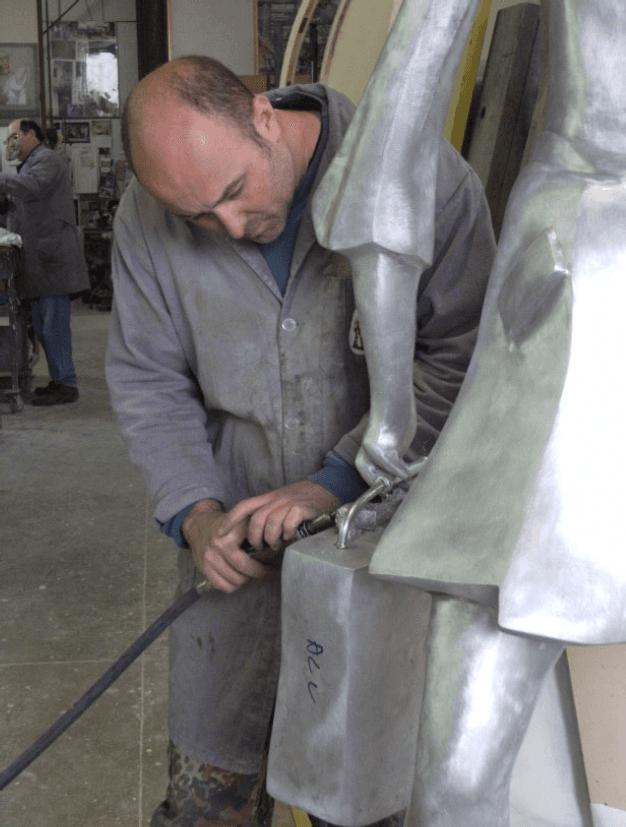 sculture in alluminio fuso