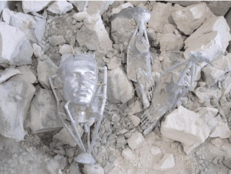 sculture in lega di alluminio