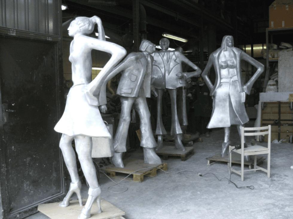 statue di personaggi