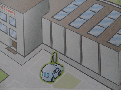 Caricatori in parcheggi aziendali