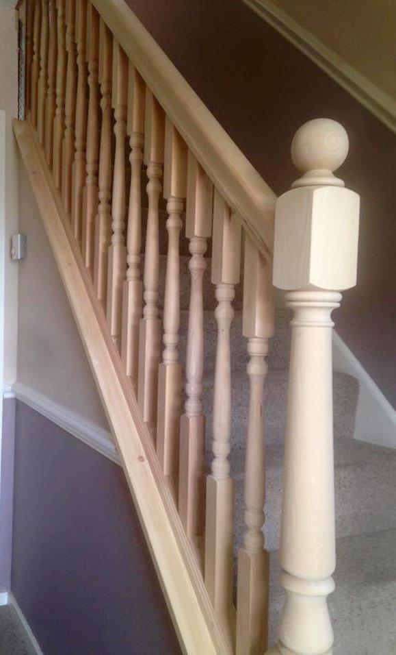 wood stair balustrade