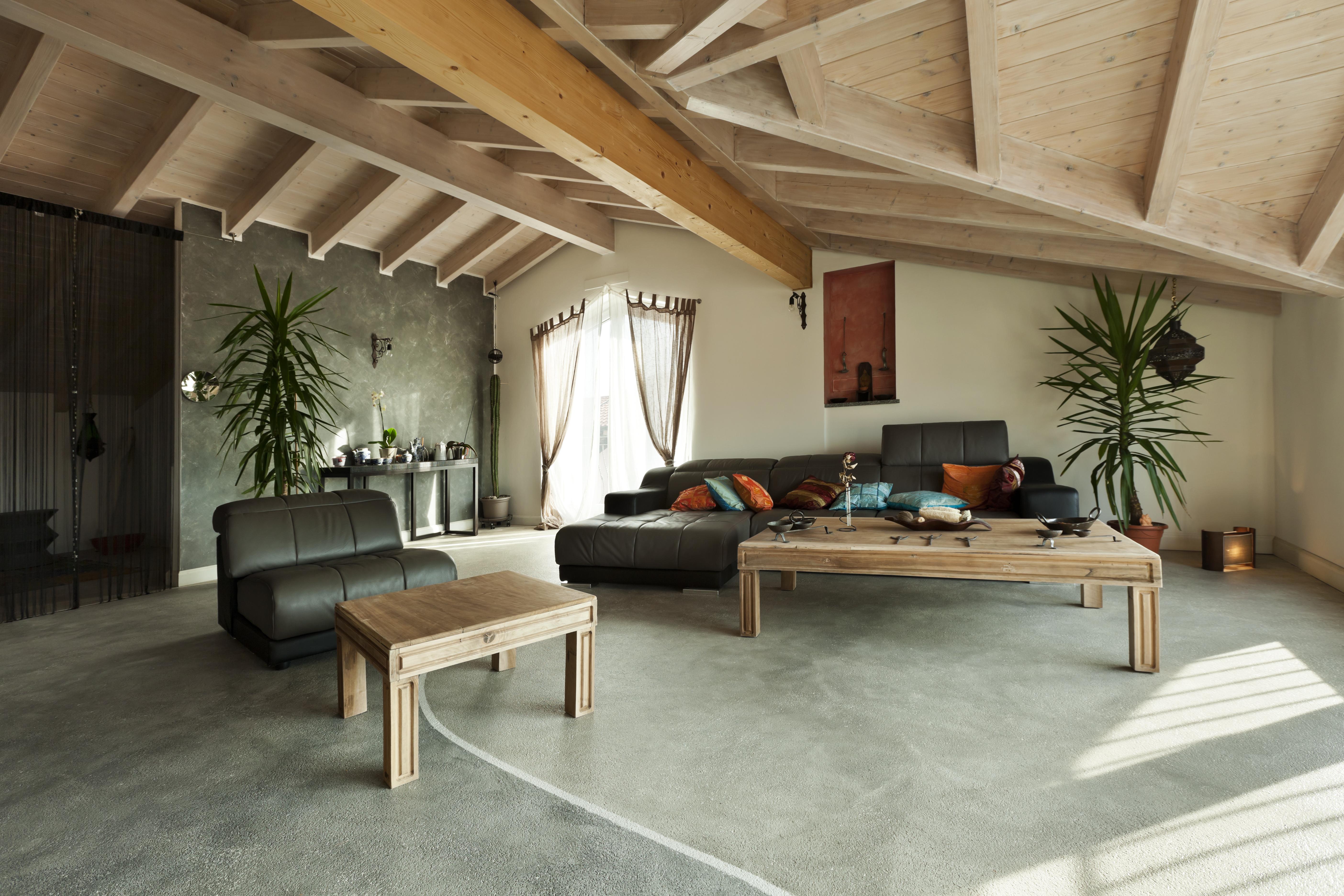 wood loft beams