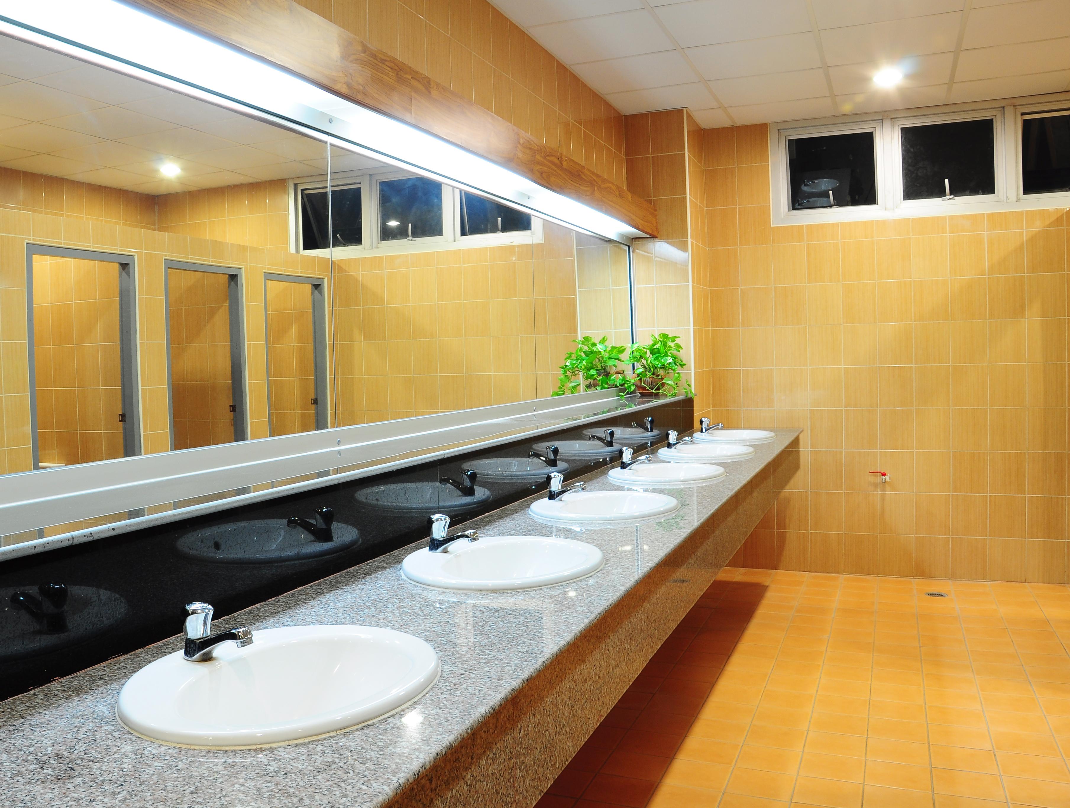 public bathroom plumbing
