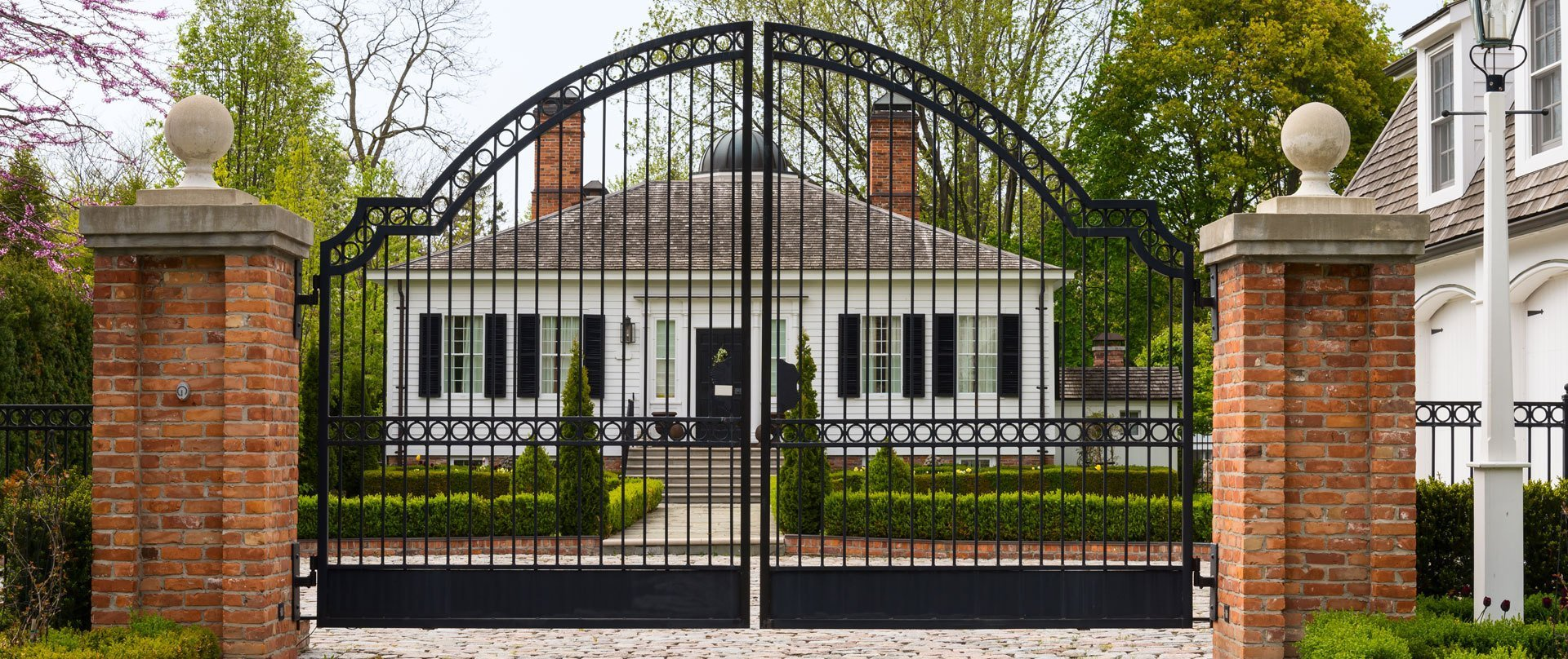 black coloured metal gate