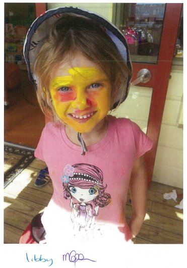 Young girls with face painted