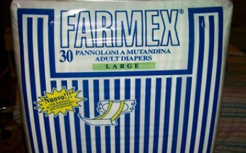 pannoloni a mutandina per adulti marca Farmex