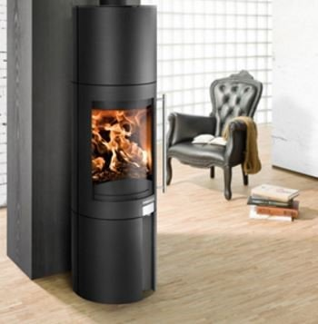Haas & Sohn Pico (Anthracite/Rainbow Natural Stone) wood burning stove