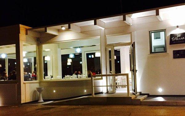 veranda di ingresso del ristorante