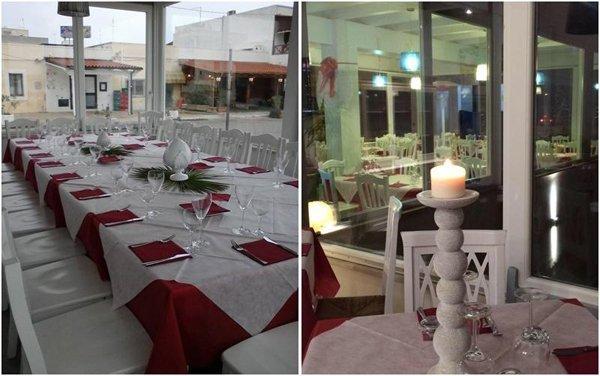 interno del ristorante e dettaglio del ristorante