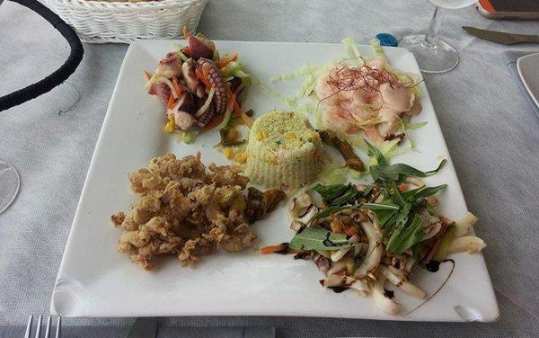 frittura e crudité di pesce