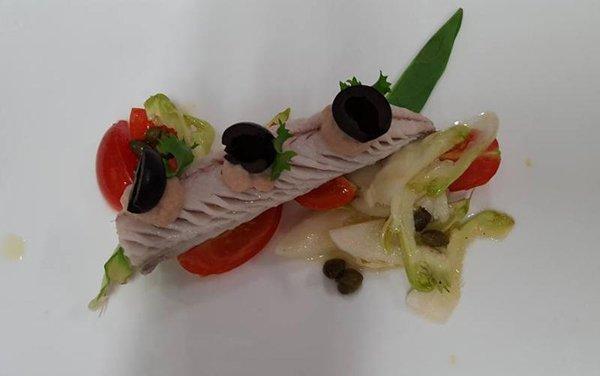 antipasto di pesce e vedure
