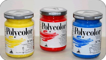 set di vernici colorate