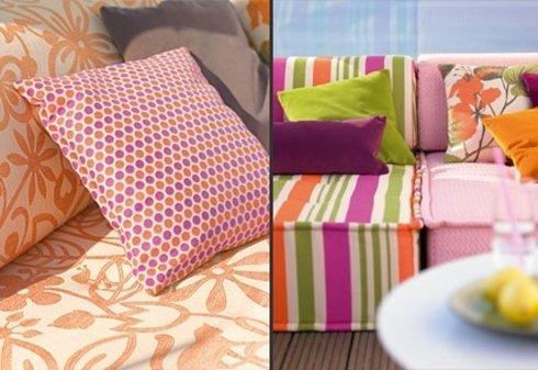 tessuto colorato per divani