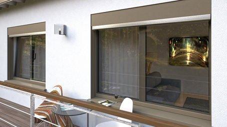 parete con finestre