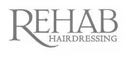 rehab hairdressing company logo