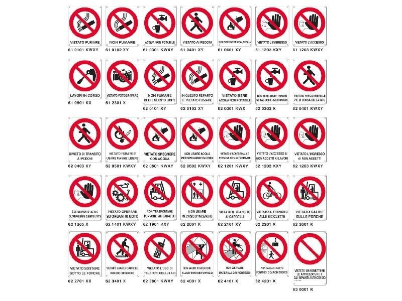 cartelli divieto con ausiliario Fire Point Antincendio