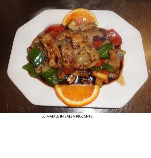 maiale in salsa piccante