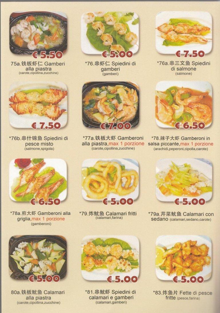 menu giapponese