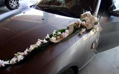 auto sposi decorata