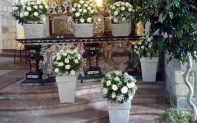 decorazione chiesa matrimonio