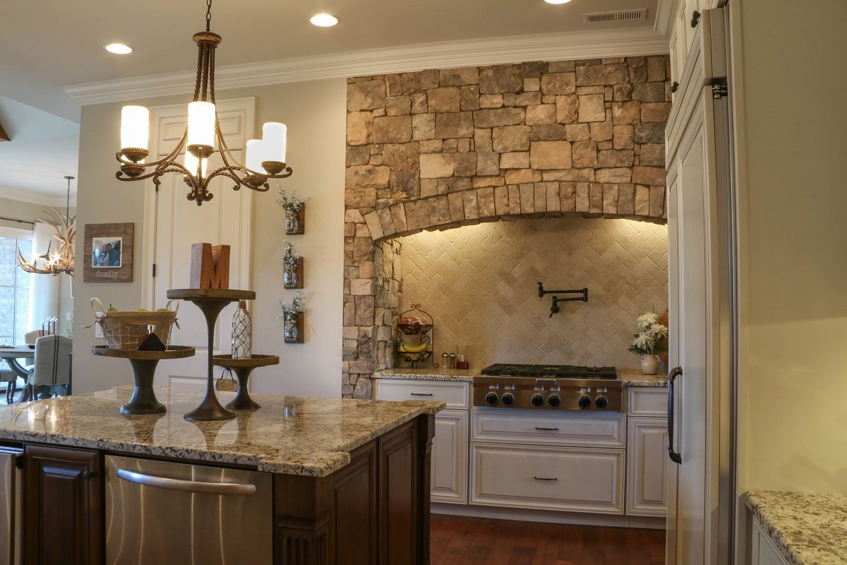 custom kitchen with stone