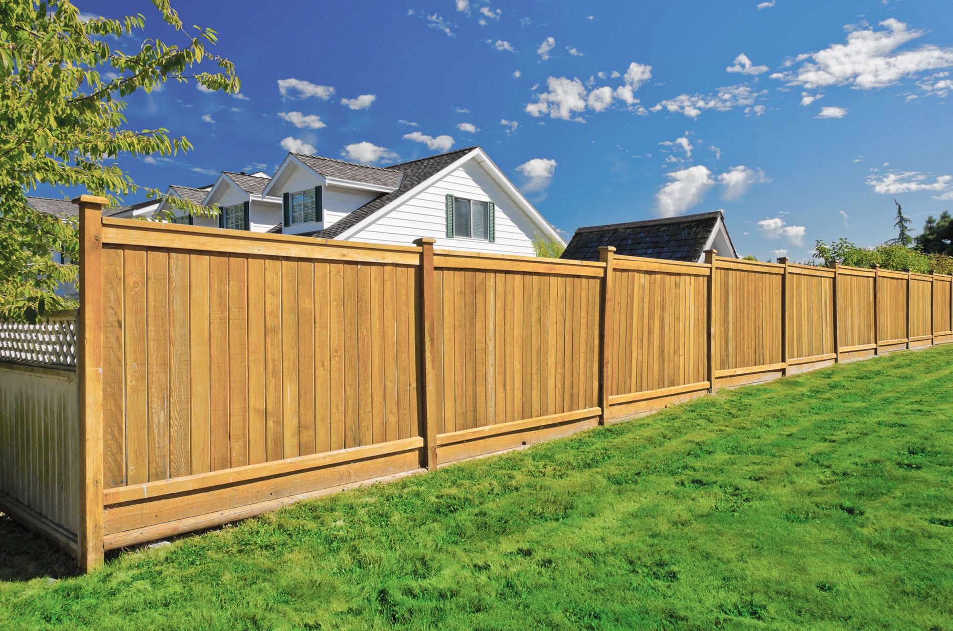 sturdy wooden fence