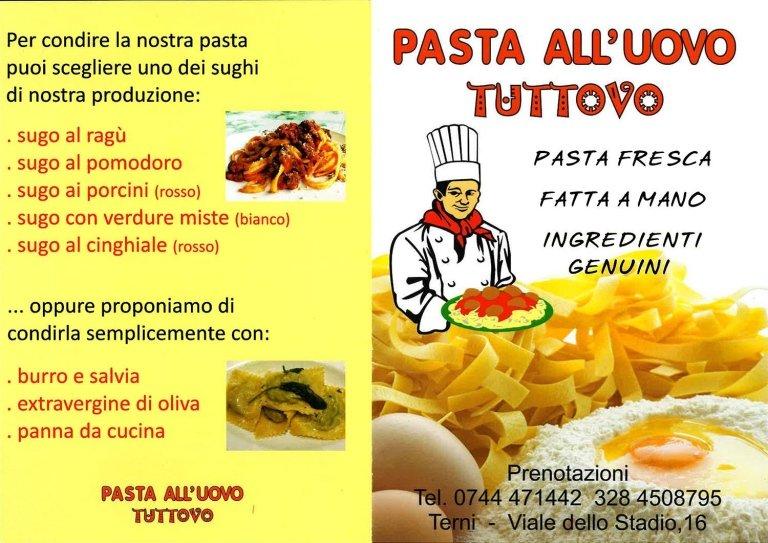 menu pasta fresca