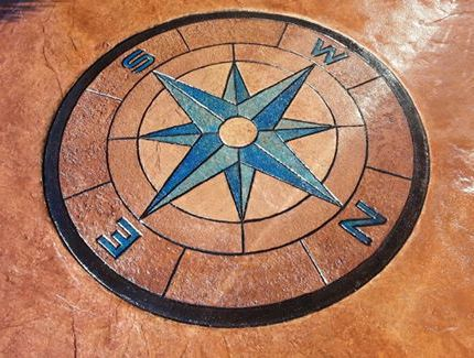 Stamped Colored Concrete Logo