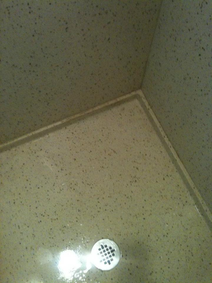 custom made epoxy terrazzo shower stall and pan key resin epoxy