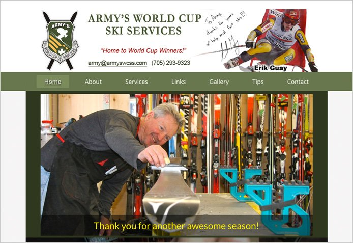 Army's World Cup Ski Services