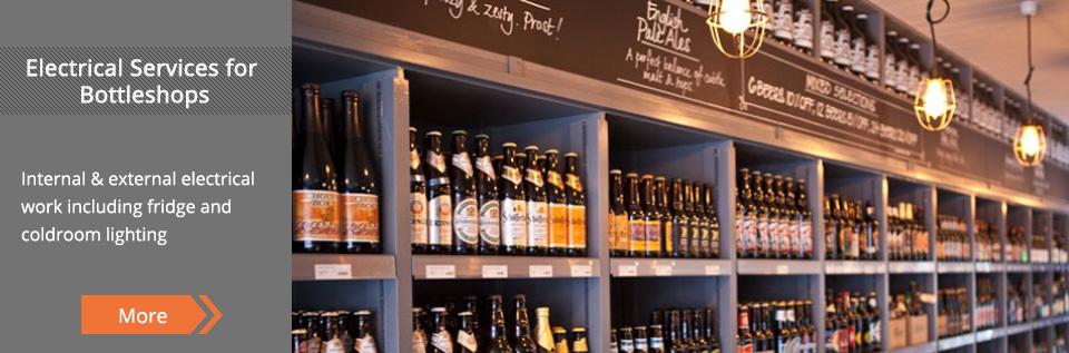 beers on shelfs