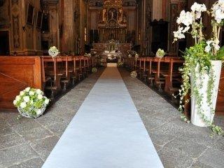 Passatoie biance per matrimoni