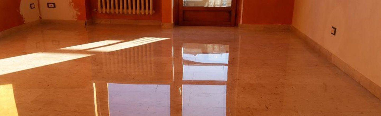 pavimento in marmo dopo lucidatura